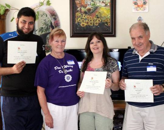 Another great Pure Reiki 1 Class in July 2012 Las Vegas Nevada