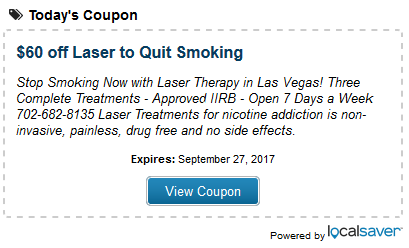 Laser Therapy Treatmen to Quit Smoking Las Vegas Discount Coupon