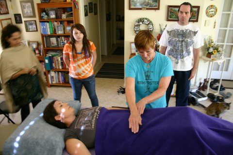 Learning Reiki positions